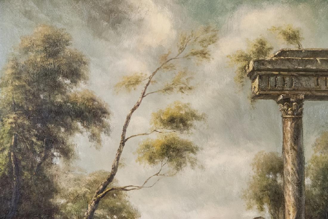 Oil on Canvas, Corinthian Column Ruin, Painting - 2
