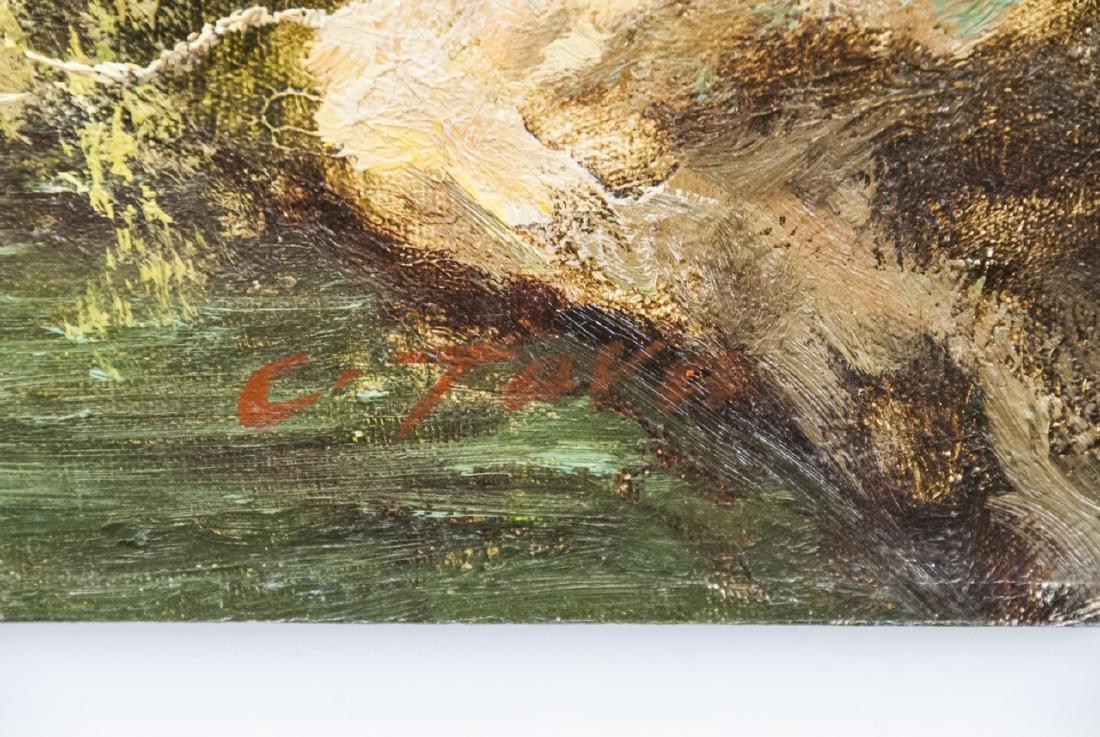 Oil on Canvas, Corinthian Column Ruin, Painting - 3