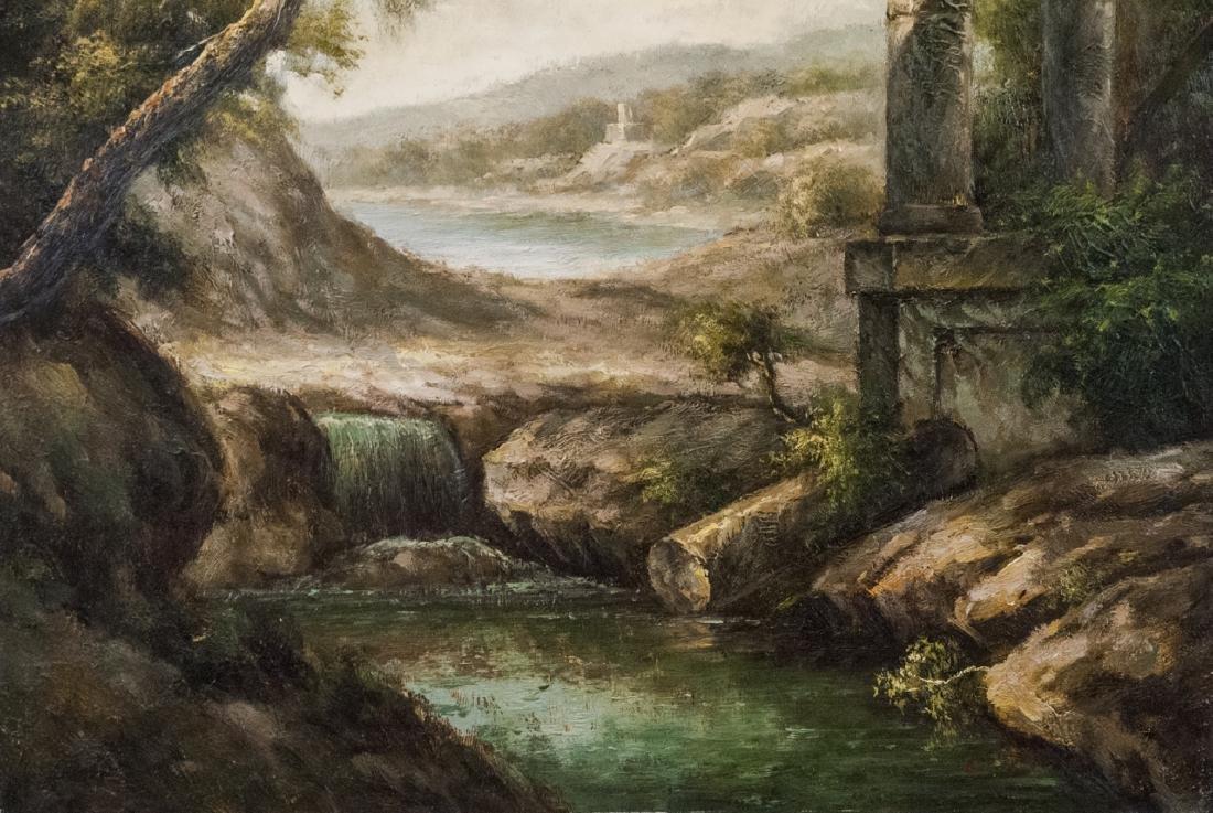 Oil on Canvas, Corinthian Column Ruin, Painting - 4