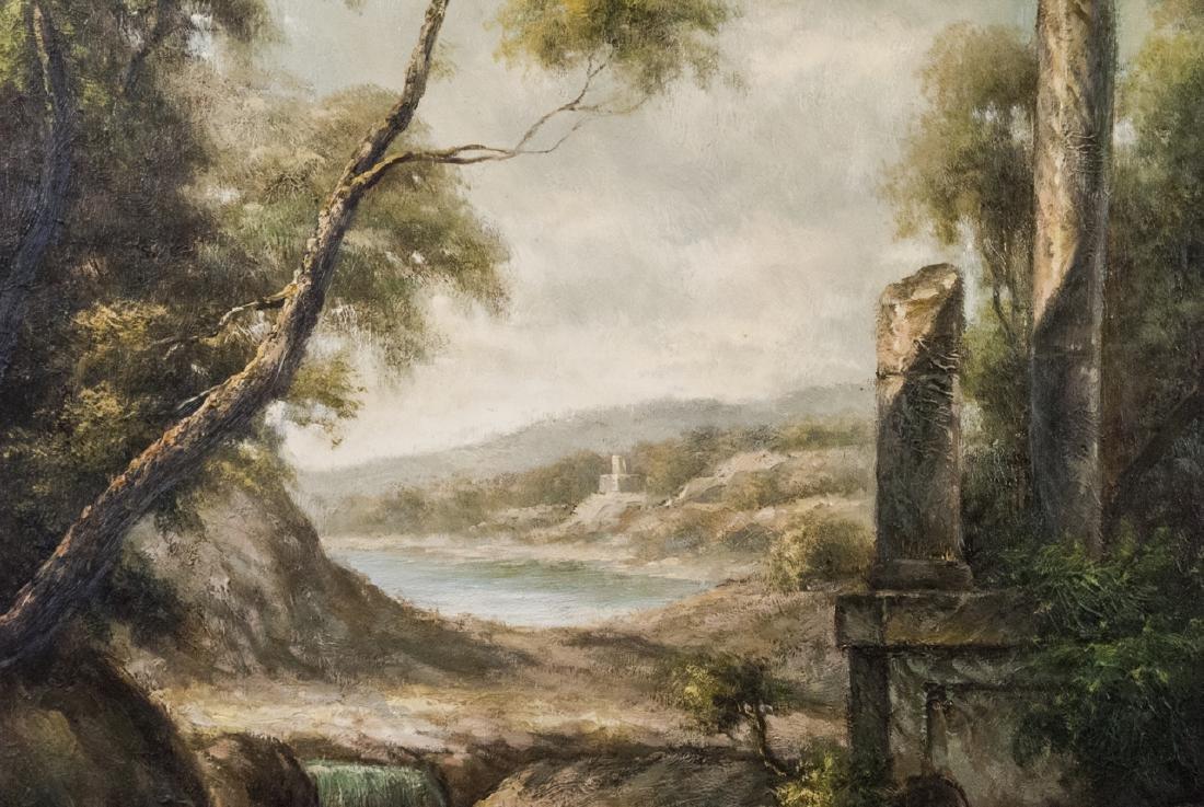 Oil on Canvas, Corinthian Column Ruin, Painting - 5