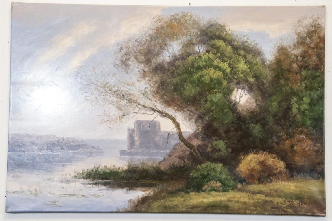 Oil on Canvas, Pastel Water Landscape, Painting