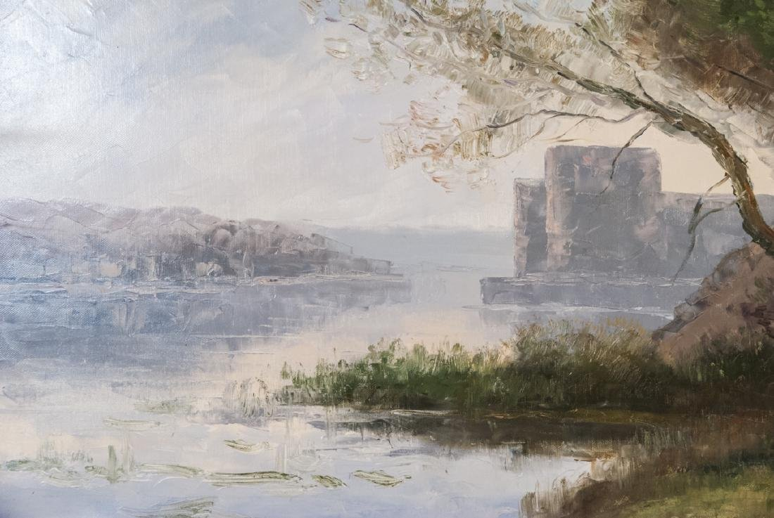 Oil on Canvas, Pastel Water Landscape, Painting - 2