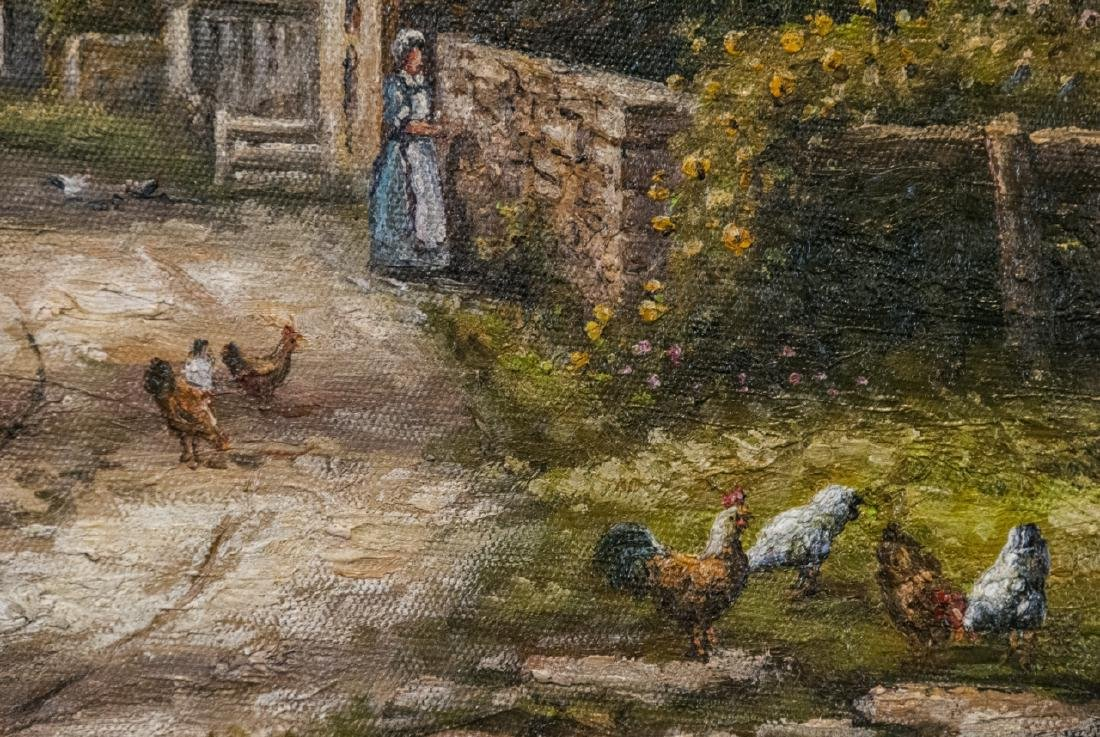 Oil on Canvas, 19th Century Country Road Painting - 3