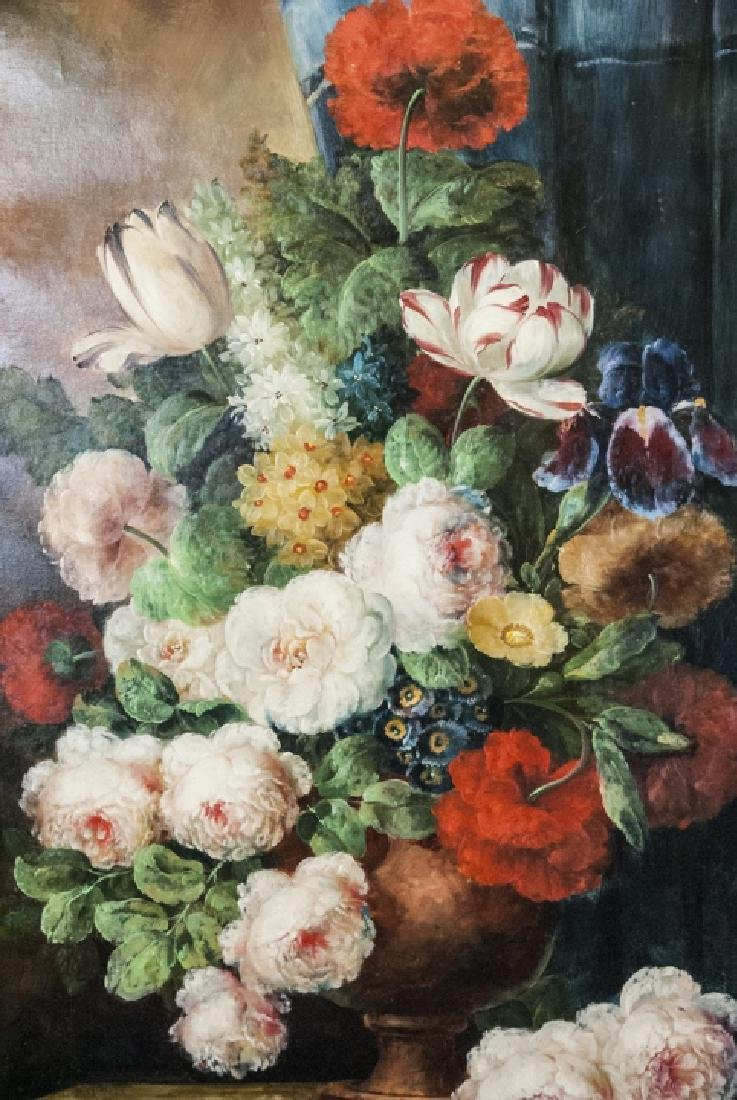Oil on Canvas, Floral Still Life in Urn, Painting - 3