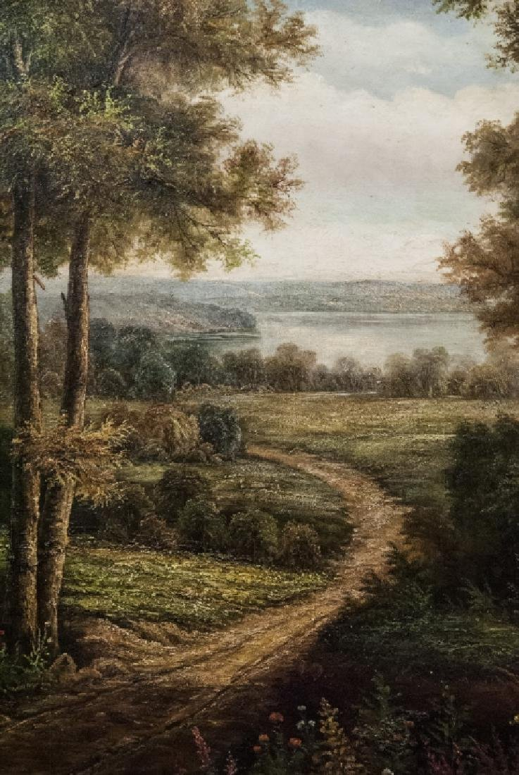 Oil on Canvas, Lake Foot Path Summer, Painting - 4