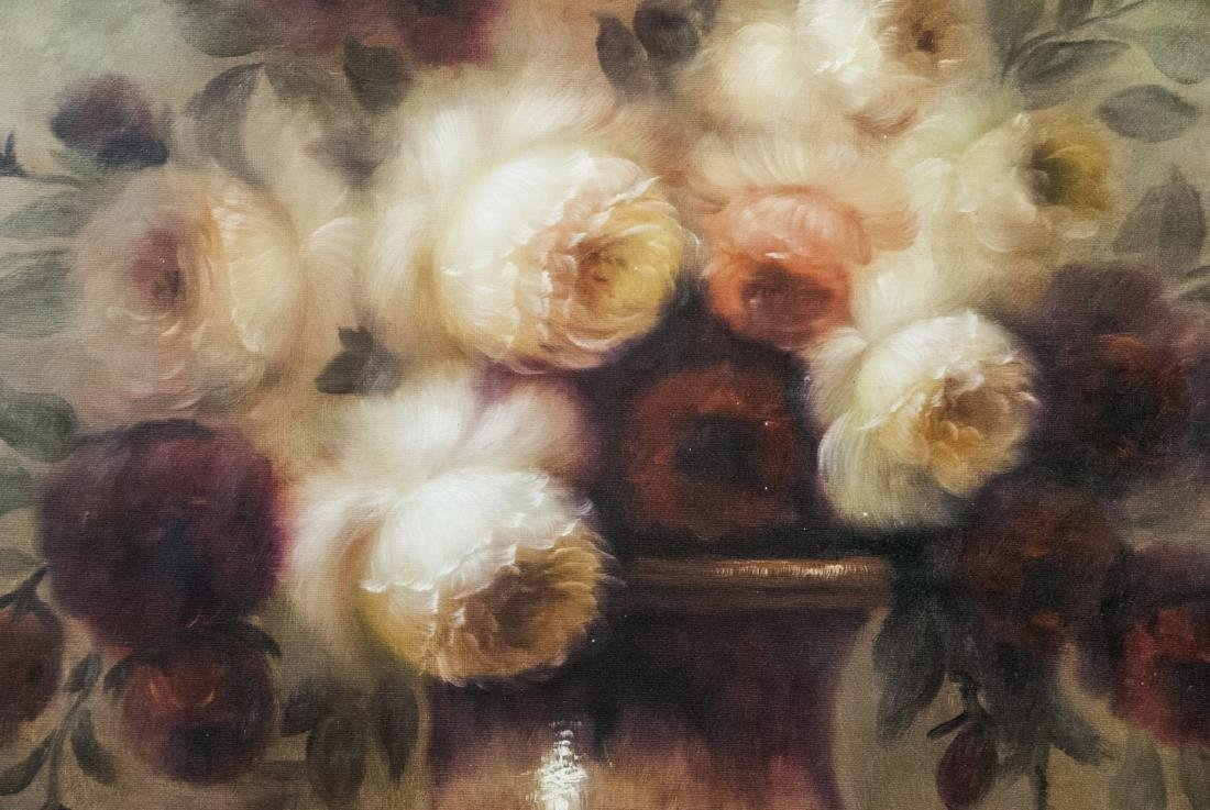 Oil on Canvas, Floral Still Life Pastel, Painting - 2