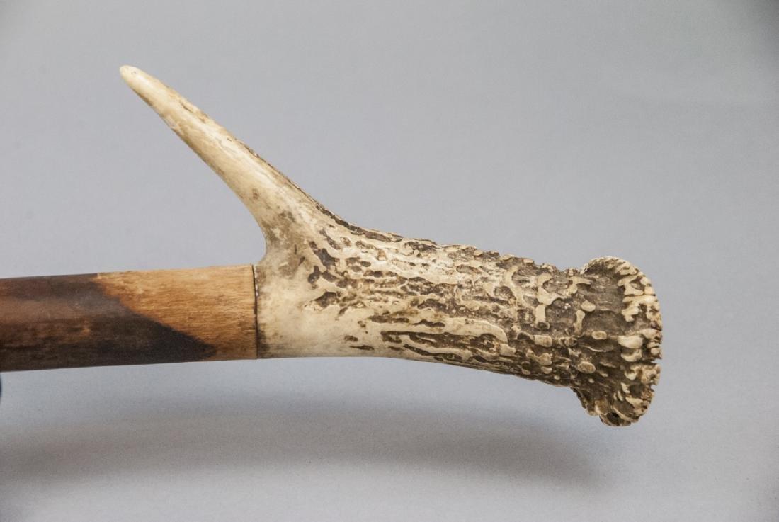 Antique Antler Handled Walking Cane - 3