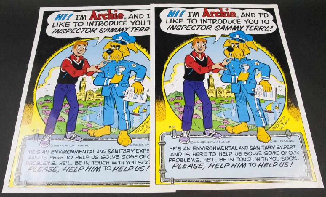 Two Vintage 1988 Comic Book Posters of Archie