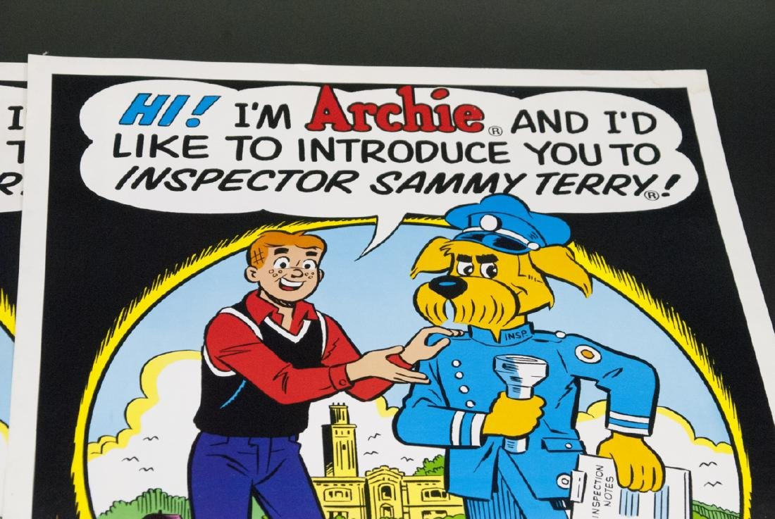 Two Vintage 1988 Comic Book Posters of Archie - 8