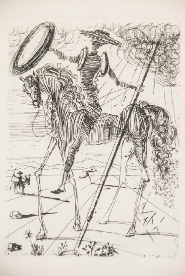 Salvador Dali Framed Don Quixote Engraving Print - 3