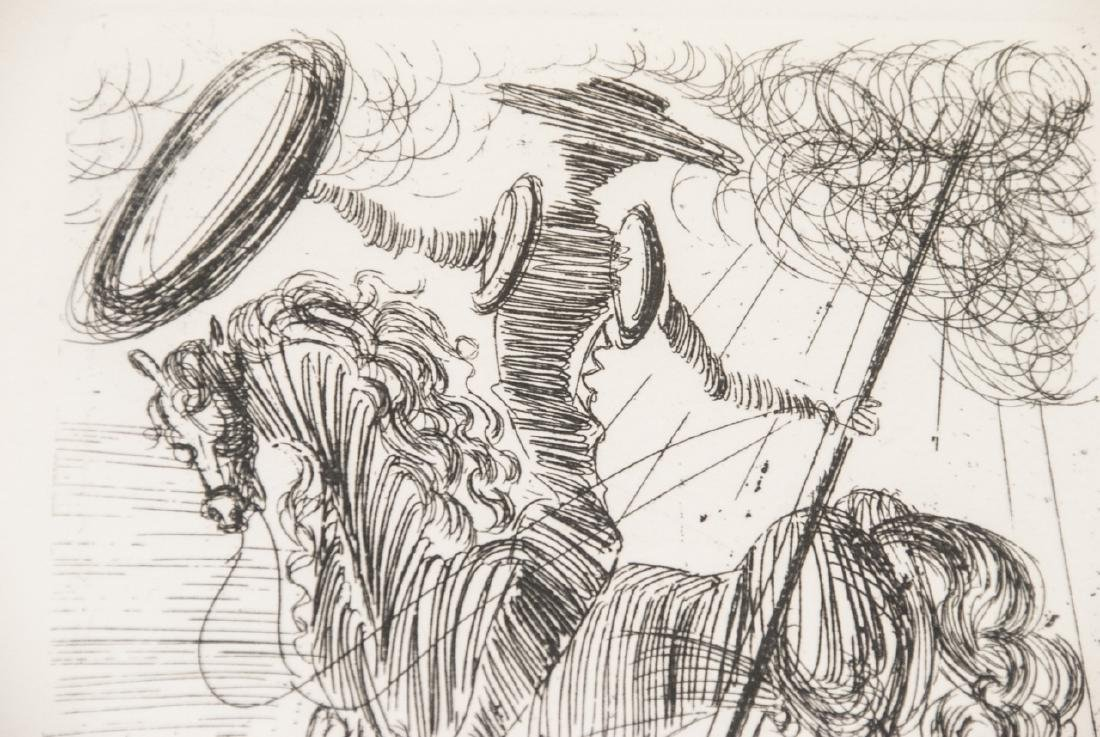 Salvador Dali Framed Don Quixote Engraving Print - 4