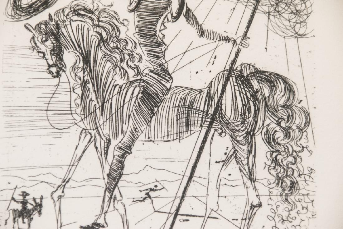 Salvador Dali Framed Don Quixote Engraving Print - 5