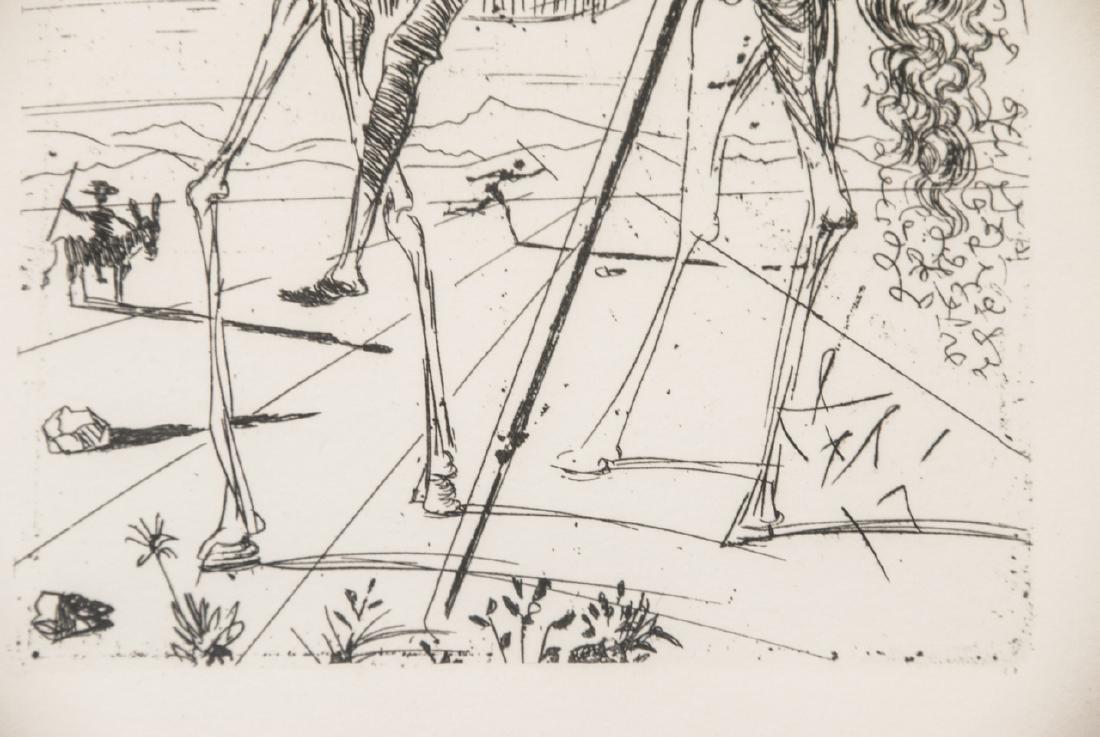 Salvador Dali Framed Don Quixote Engraving Print - 6