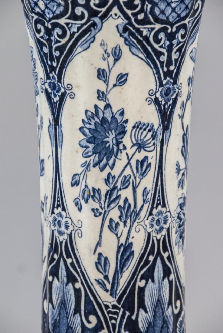 Petrus Regout Maastricht Delft  Antique Vase - 3