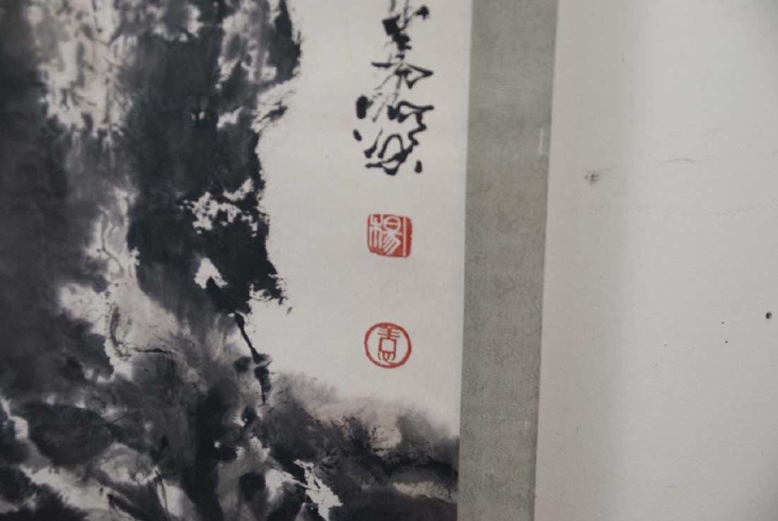 Chinese Hand Painted & Signed Landscape Scroll - 5