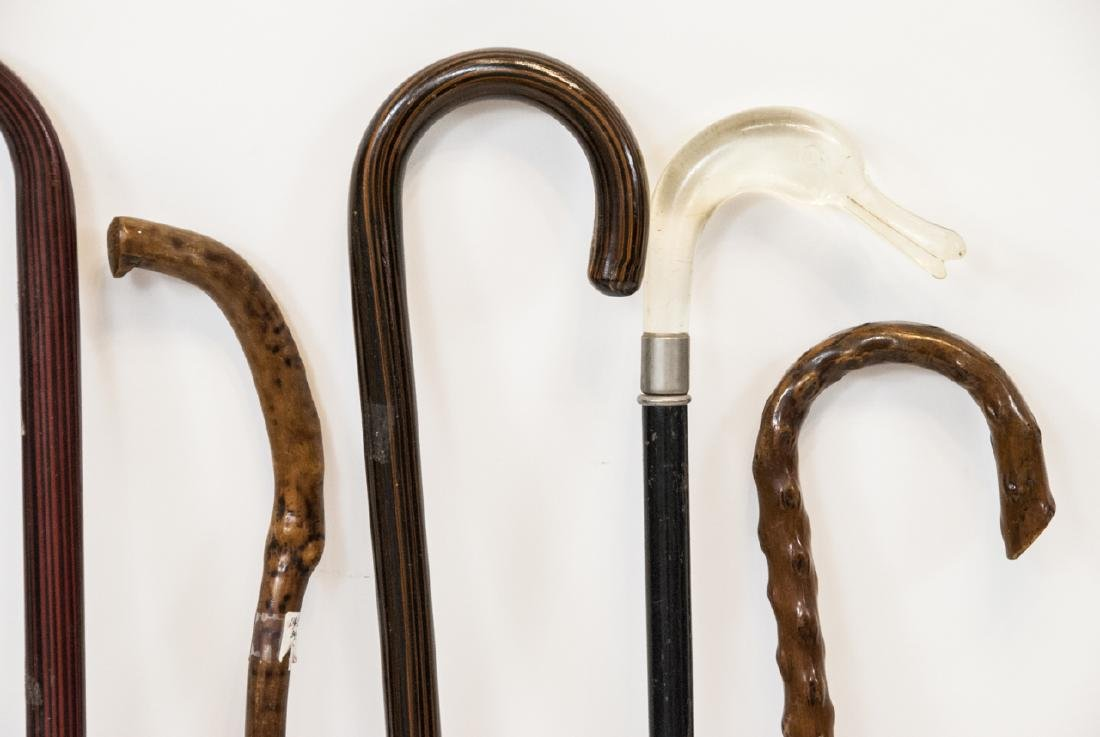 Assorted Lot Of Six Vintage Walking Canes - 3