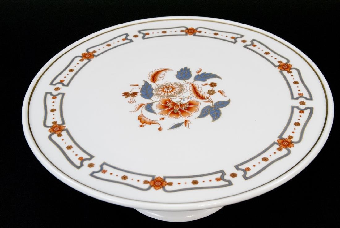 Richard Ginori Italy Porcelain Pedestal Cake Stand - 3