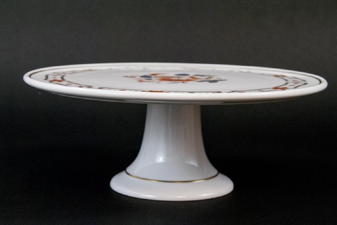 Richard Ginori Italy Porcelain Pedestal Cake Stand - 4