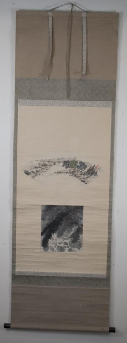 Chinese Hand Painted on Paper & Silk Scroll