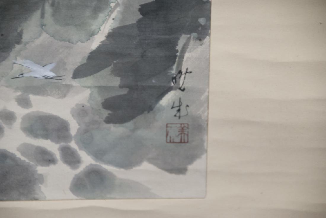 Chinese Hand Painted on Paper & Silk Scroll - 4