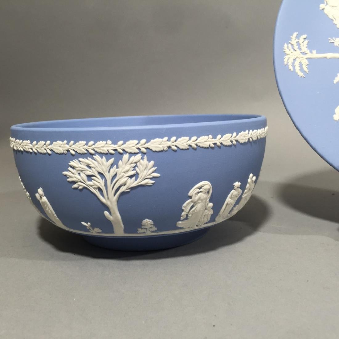 Wedgwood Blue Jasperware Bowl & Plate - 2