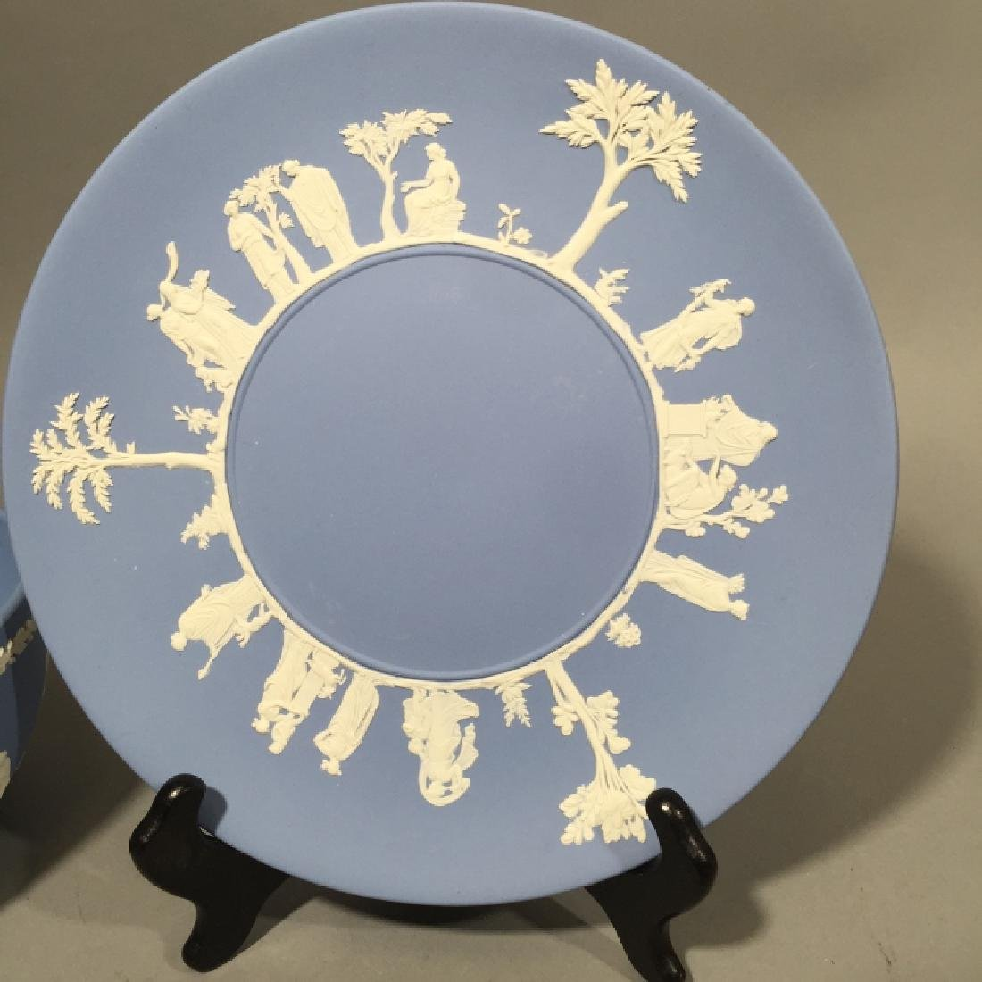 Wedgwood Blue Jasperware Bowl & Plate - 3