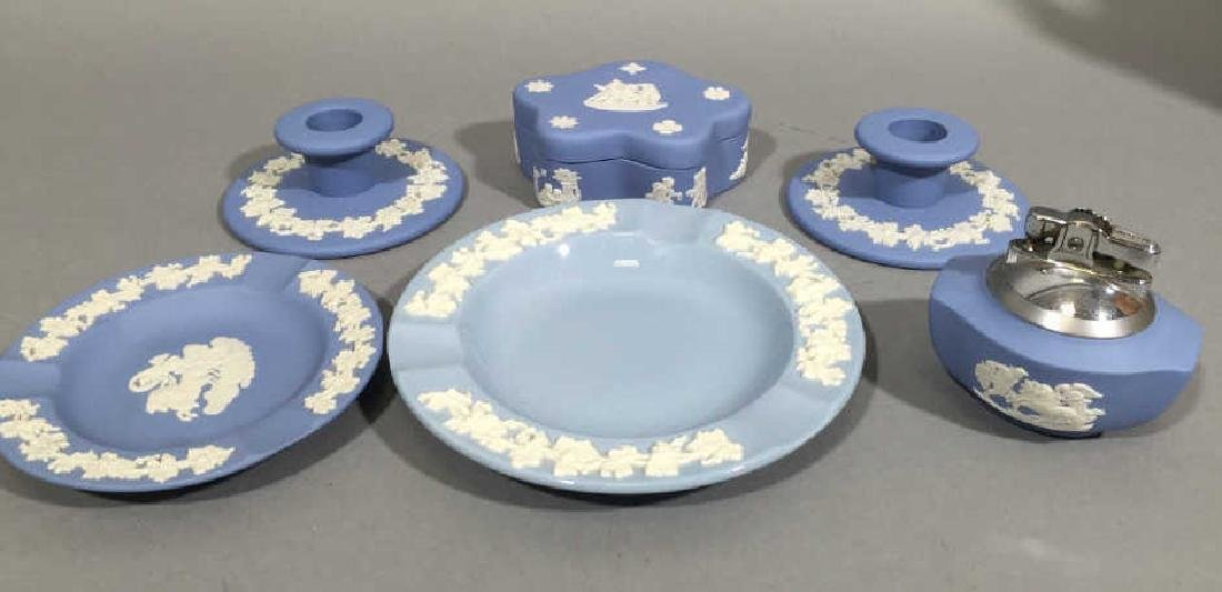 Collection of Wedgwood Blue Jasperware wLidded Box