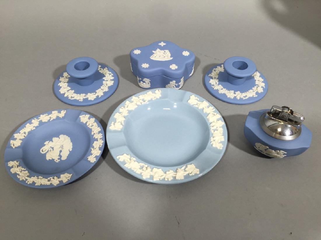Collection of Wedgwood Blue Jasperware wLidded Box - 5