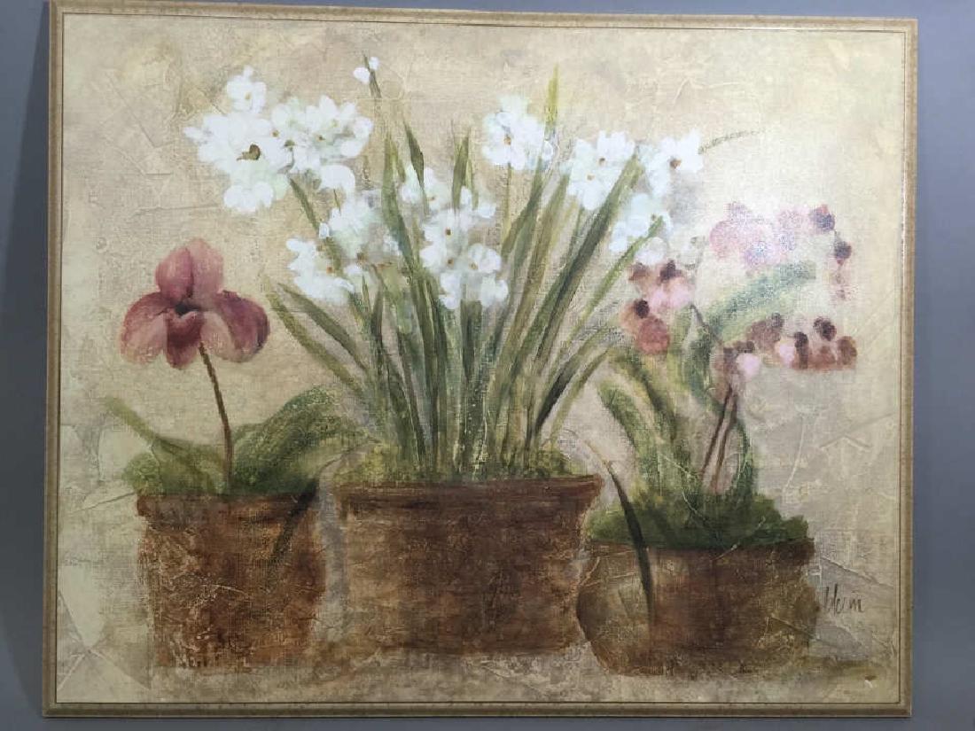 4 Decorative Art Botanical Painted Pieces - 2