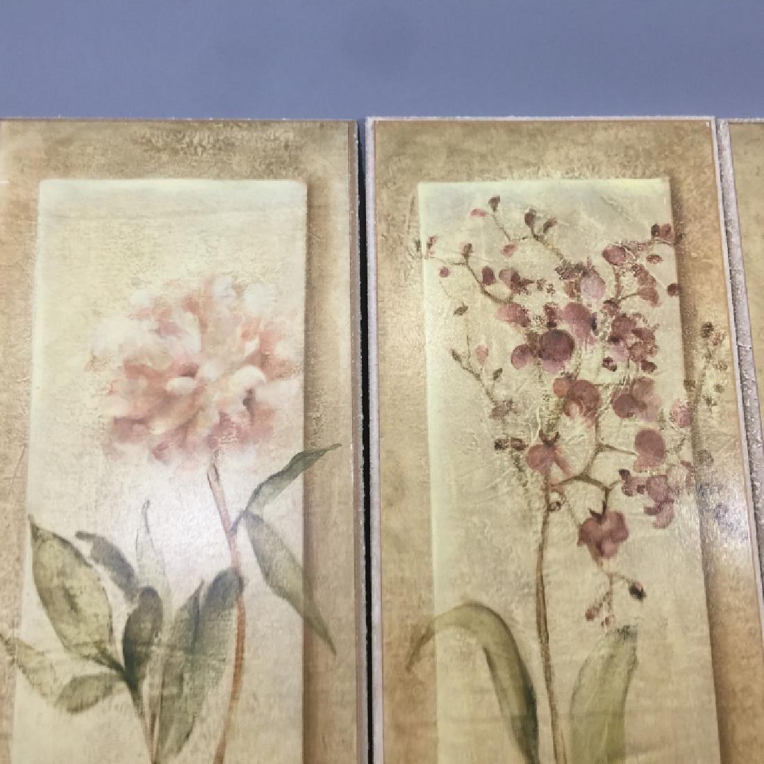 4 Decorative Art Botanical Painted Pieces - 5