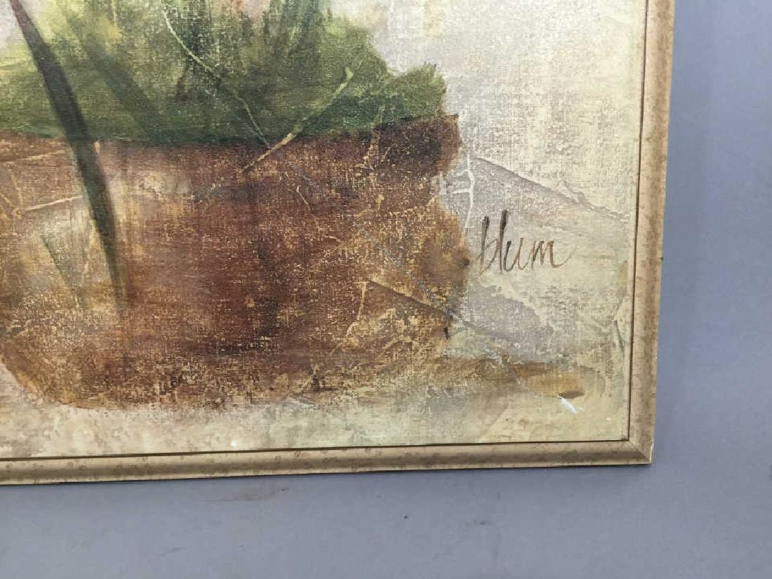 4 Decorative Art Botanical Painted Pieces - 6
