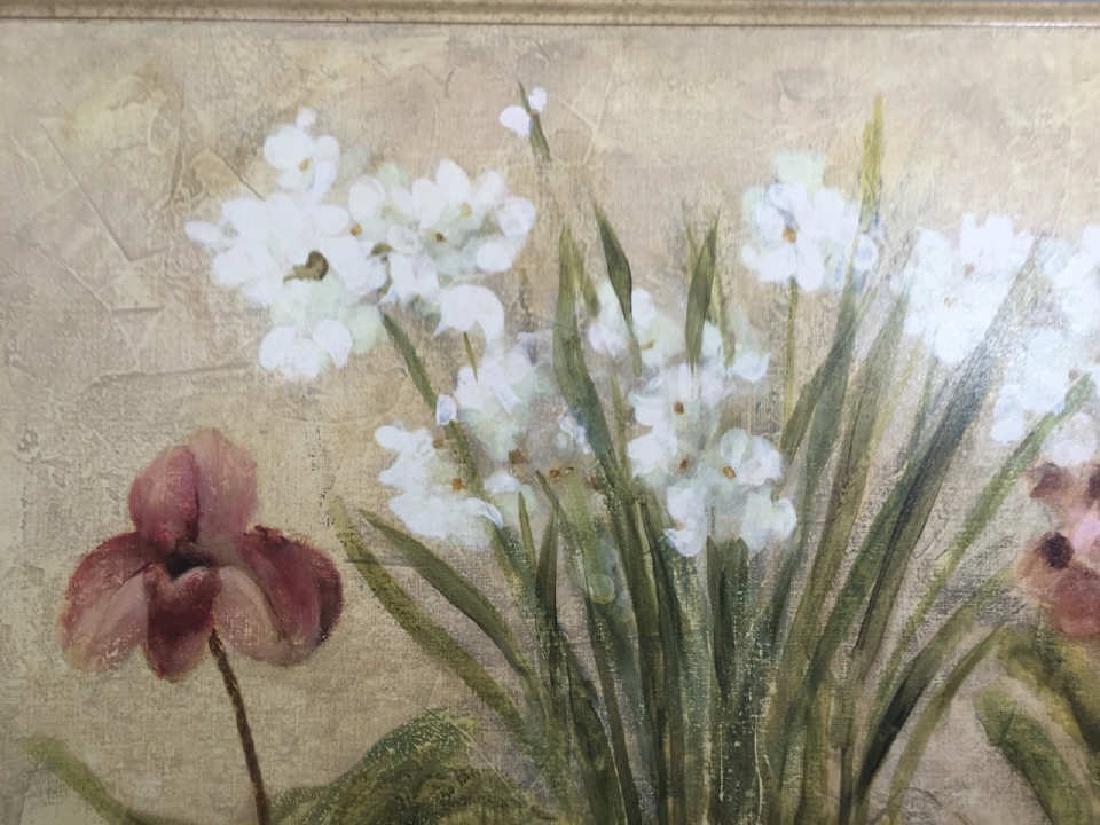 4 Decorative Art Botanical Painted Pieces - 7