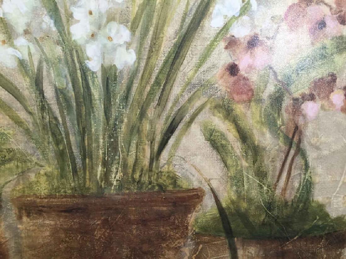4 Decorative Art Botanical Painted Pieces - 8