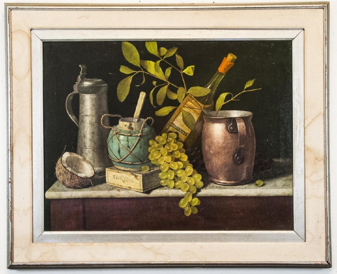 William Harnett Print On Canvas Still Life
