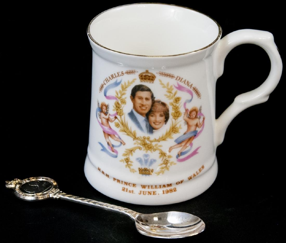 Pair Of Prince William Of  Wales Teacup and Spoon