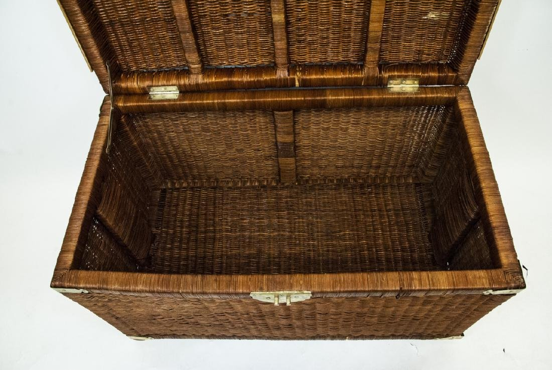 Vintage Asian Style Wicker Chest - 4