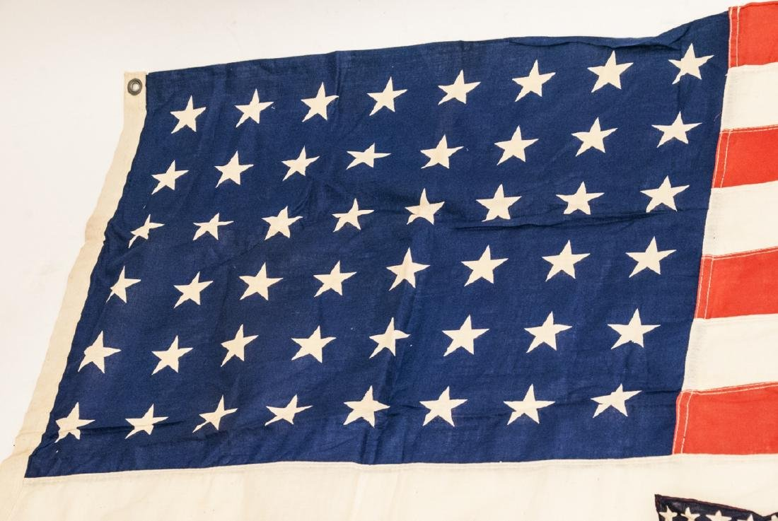 Pair Of Vintage American Flags Large & Small - 2