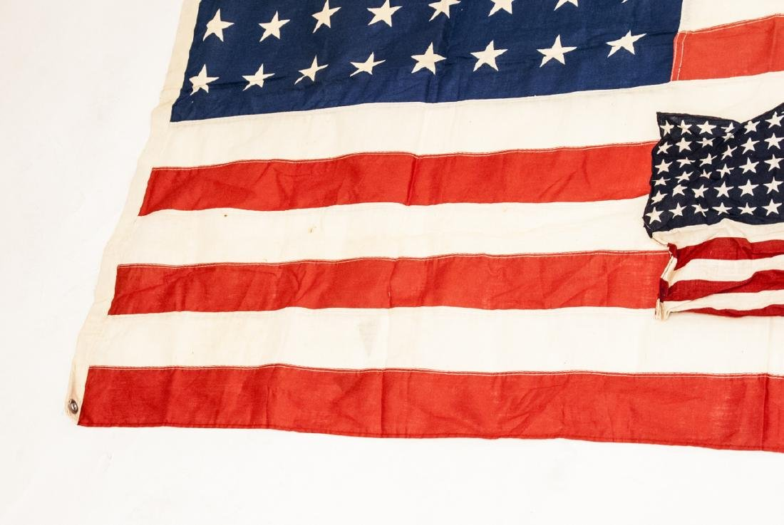 Pair Of Vintage American Flags Large & Small - 4