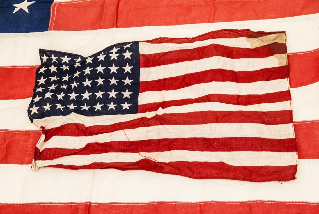Pair Of Vintage American Flags Large & Small - 5