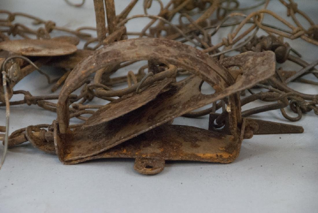 Box Full Of 10 Rusted Vintage Small Animal Traps - 3