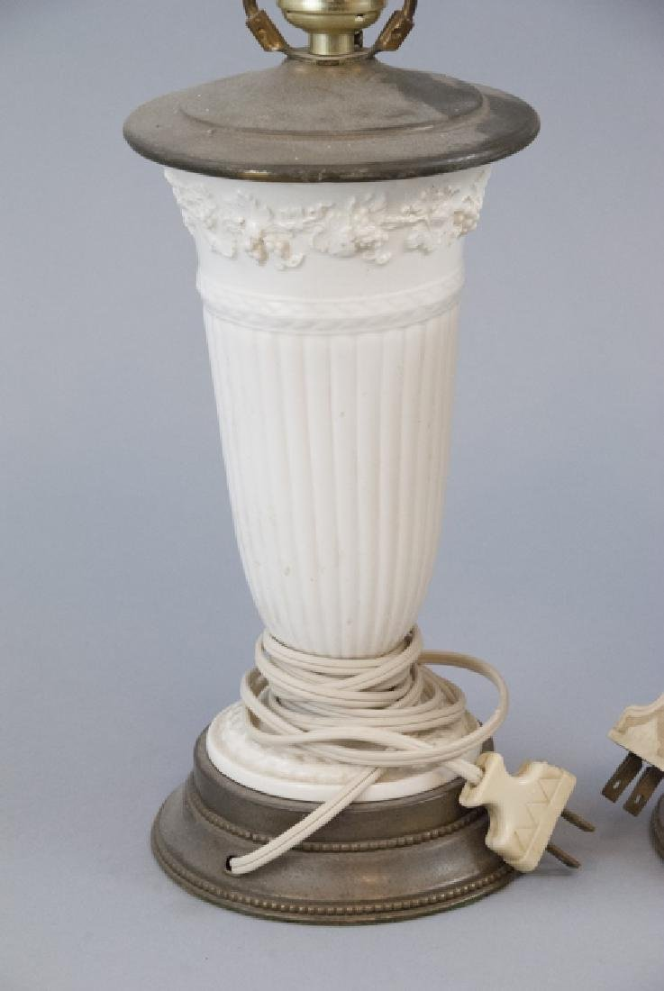 Two Vintage Porcelain Wedgwood Table Lamps - 5