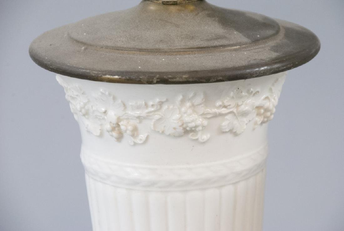 Two Vintage Porcelain Wedgwood Table Lamps - 8