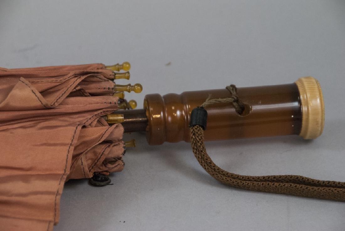 Vintage Parasol Umbrella & Rag Doll - 3