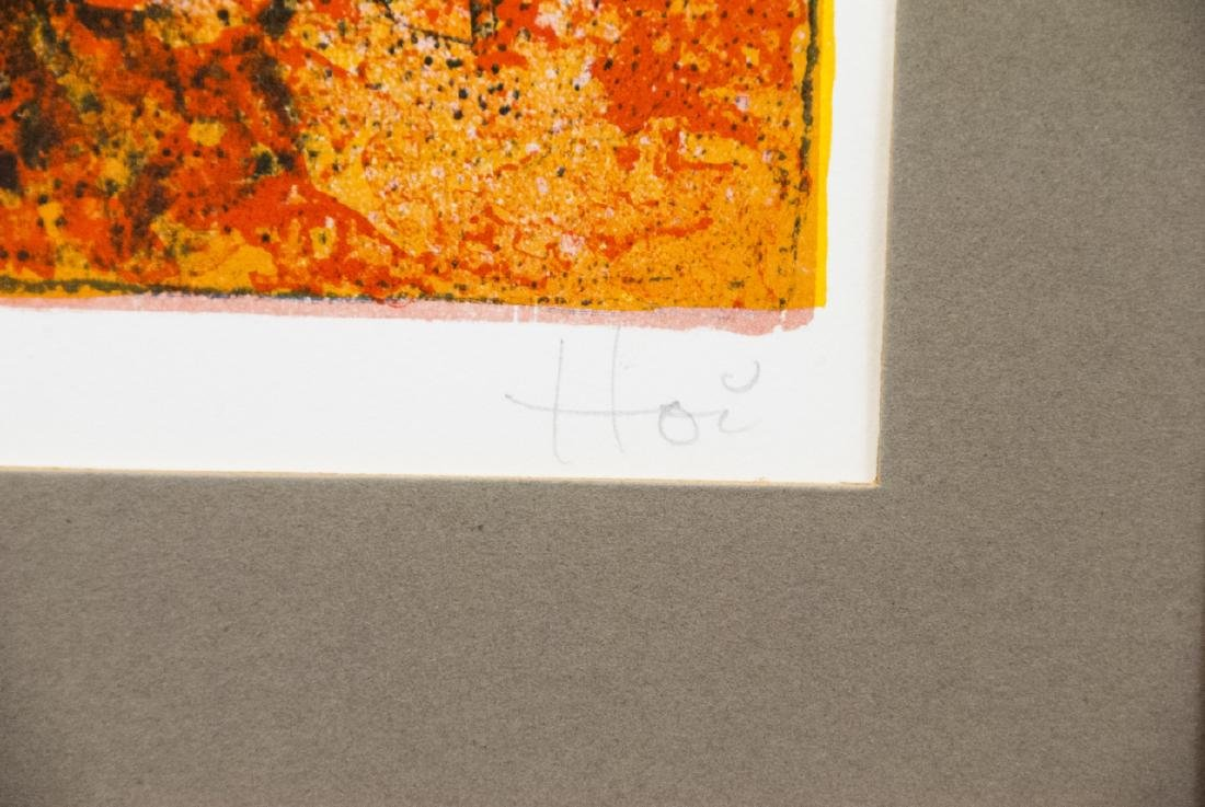 Hoi Pencil Signed Lithograph w COA on Back - 4