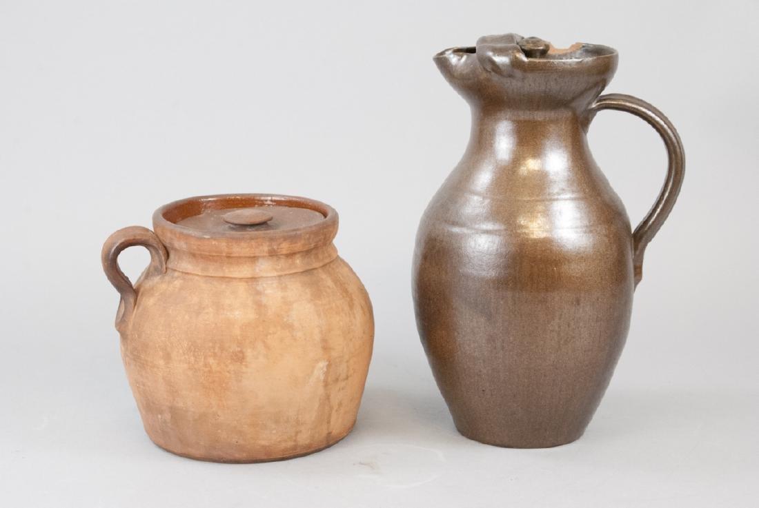 Two Vintage Stoneware Water Vases