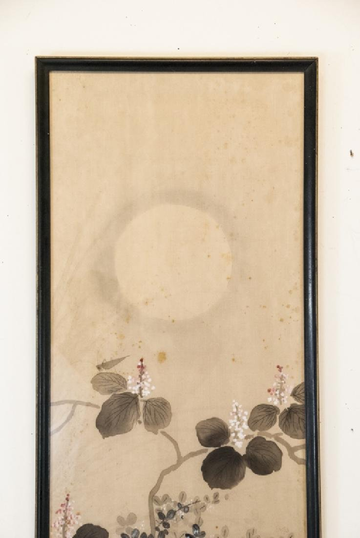 Vintage Asian Mineral Color On Silk Painting - 2
