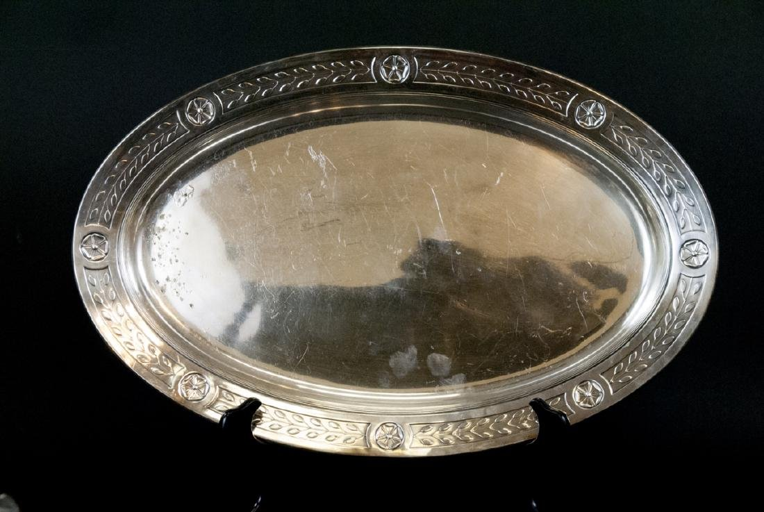 Lot Of  Assorted Vintage Silver Tray and Dishes - 3