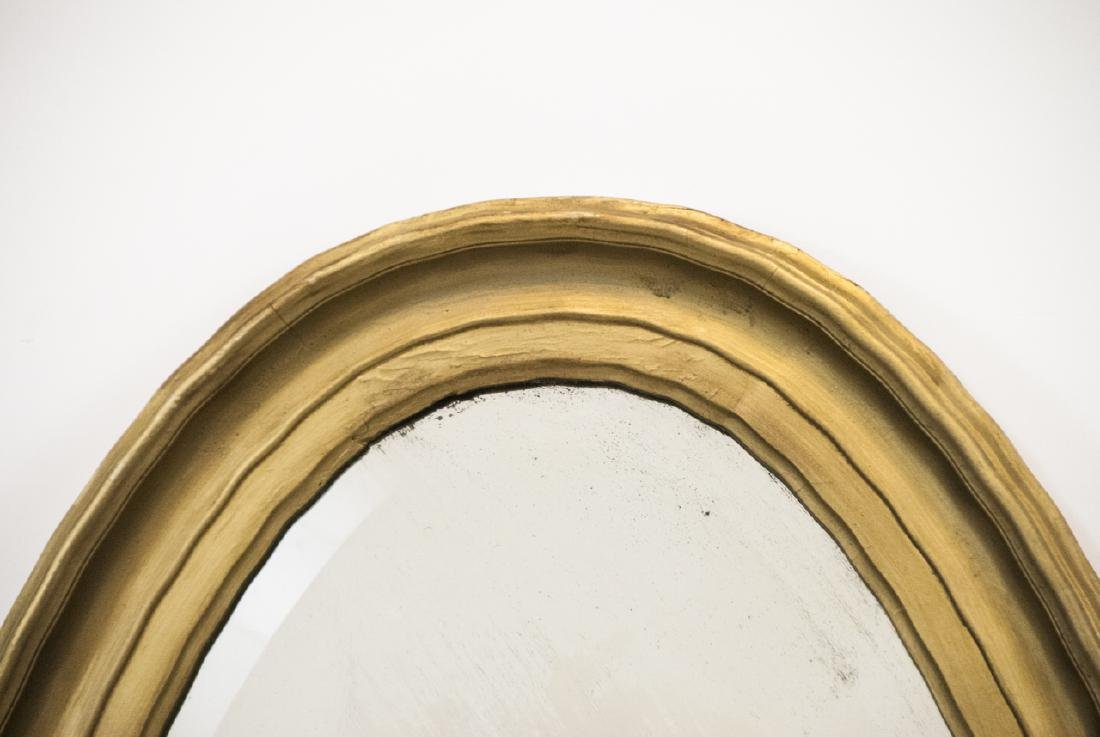 Vintage Oval Mirror With Scalloped Edge - 3