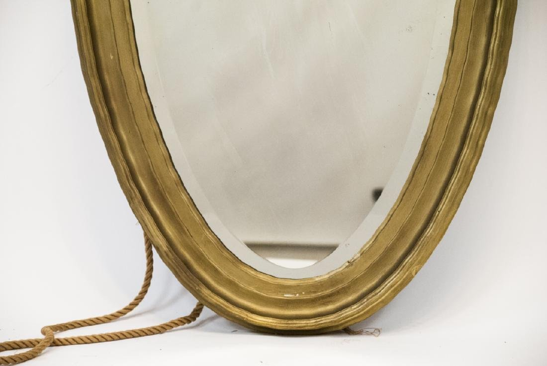 Vintage Oval Mirror With Scalloped Edge - 5