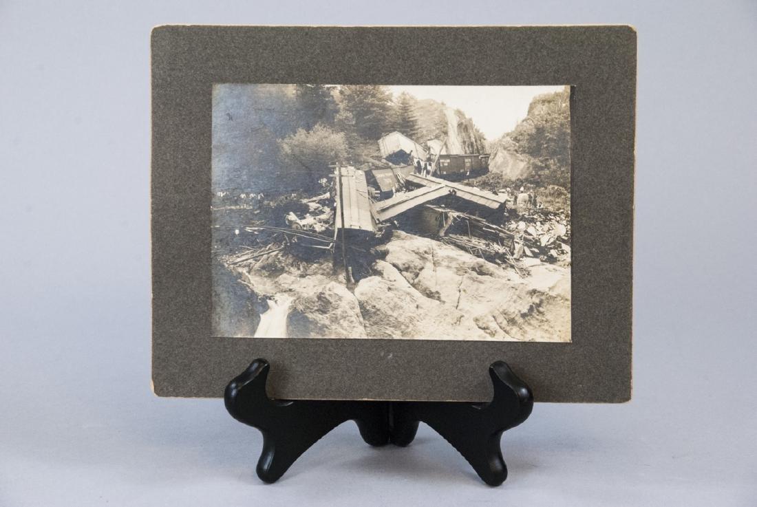 Antique Grand Trunk Train / Railway Accident Photo